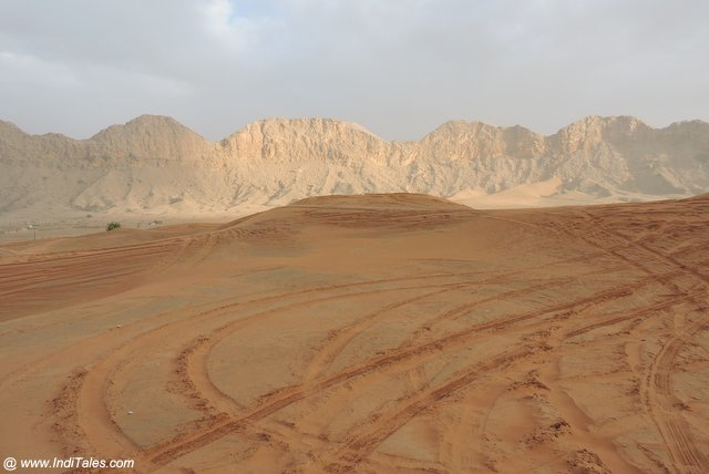 Vast Desert with ancient ruins at Mleiha Archaeological Centre