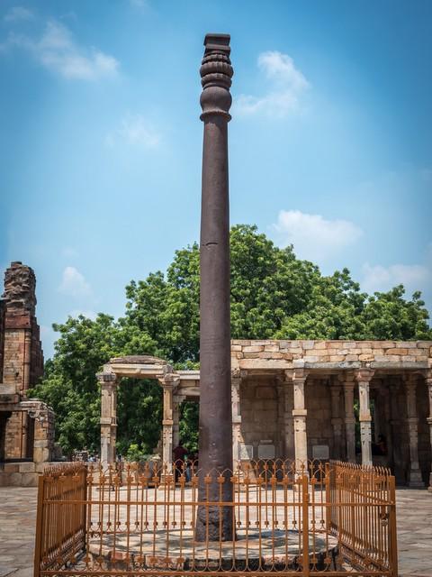 Iron Pillar at Qutub Complex, New Delhi