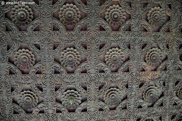 Kuthiramalika Palace intricately carved wooden ceiling - Trivandrum Tourist Attractions
