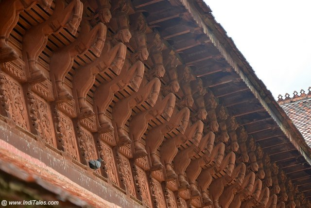 Kuthiramalika Palace wooden horses bracket panel - Trivandrum Tourist Places