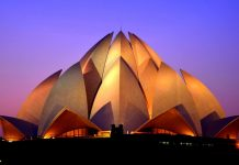 Lotus Temple at Dusk - New Delhi