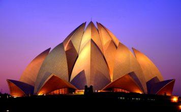 Lotus Temple at Dusk - New Delhi