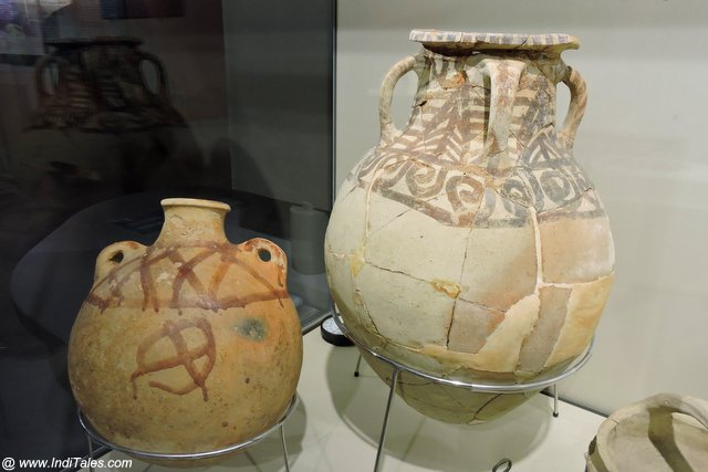 Painted pottery displayed at Mleiha Archaeological Centre