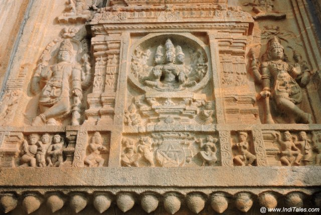 Sculpted Walls of Vidyashankara Temple