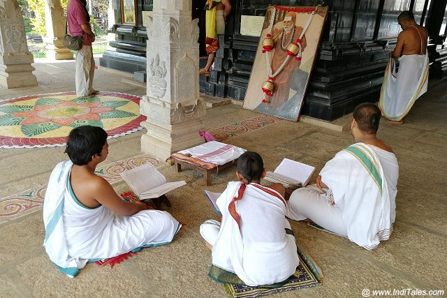 Students studying Vedanta at Sringeri Sharada Peetham
