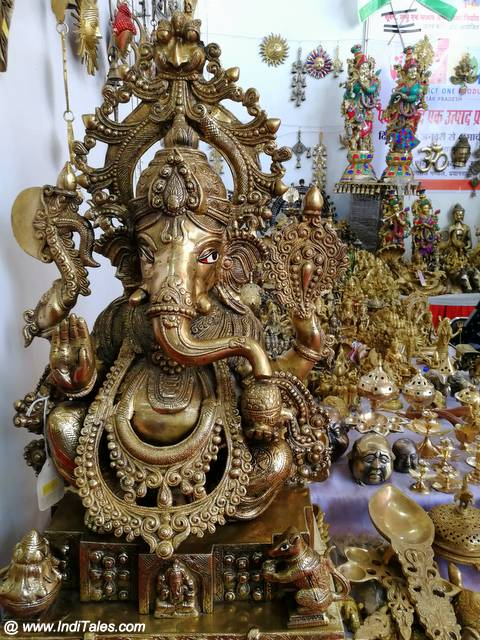Brass Ganesh Idol - Kumbh Souvenirs