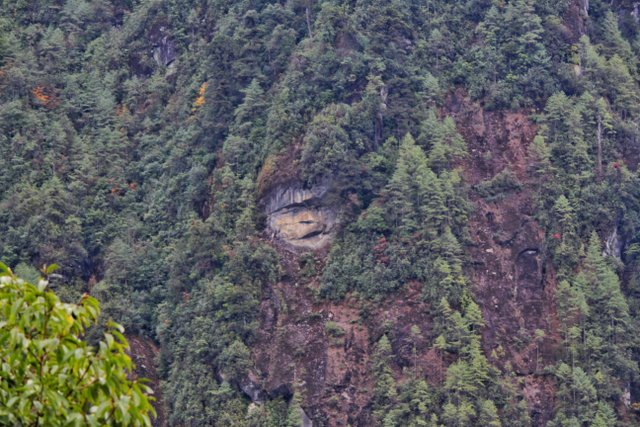 Naturally formed Hanuman face on the mountains