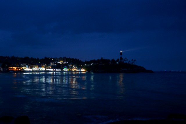 Kovalam Beach by dusk - Trivandrum Tourist Places