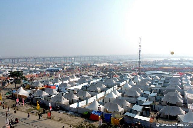 Kumbh Nagari Prayagraj Aerial View