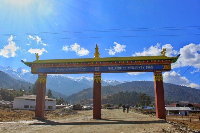 The Mechuka Town Gate