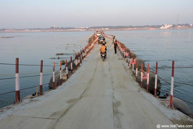 Pontoon or Pipa Bridges across Ganga & Yamuna - Kumbh Mela