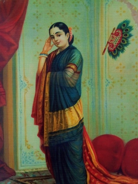 Vasant Sena image from the Raja Ravi Varma Oleographs - Trivandrum Tourist Attractions