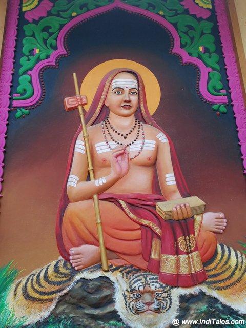 Adi Shankaracharya Mural at Kalady