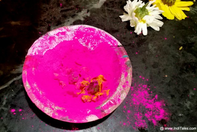 Gulal - the most popular Holi Color