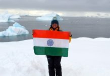 Prathyasha Parakala in Antarctica