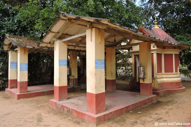 Small and Simple temples at Kanchi Mutt Kalady