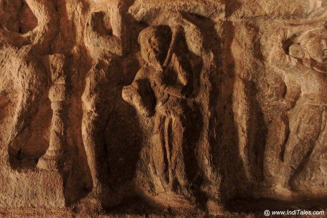 Chinese trader or traveler carved on the walls of Vaikunth Perumal Temple in Kanchipuram