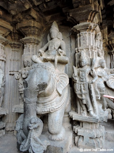 Elephant sculpture Kopeshwar Mahadev Temple