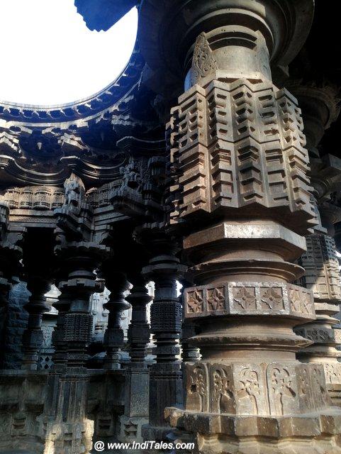 Geometric Patterns on Swarga Mandap Pillars - Kopeshwar Temple, Khidrapur