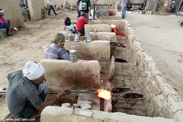 Glass Bangles Being Made in Firozabad