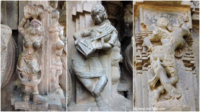 Shakbhanjika, Mridangvadini & Patralekha Madanika Images on outer walls