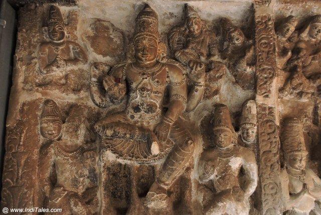 Vaikuntha Vishnu Sculptures in Kanchipuram