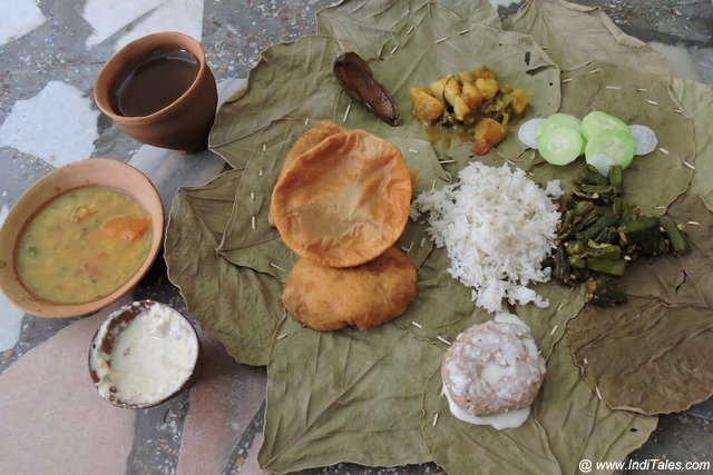 Satvik Thali in an Indian Ashram