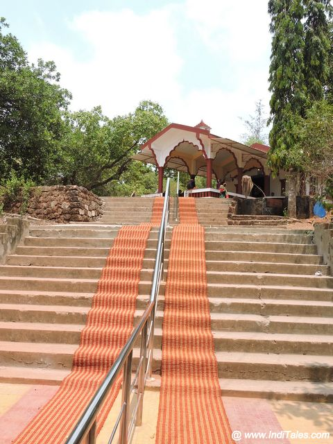 Steps leadig to hilltop Devi temple