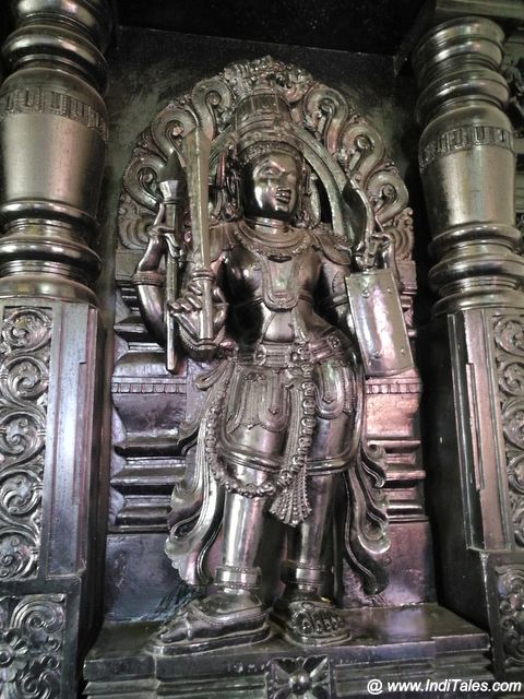 Dwarpala carved in wood