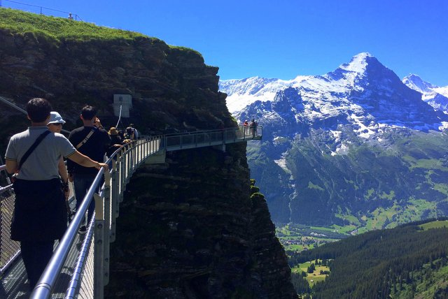 Eiger from the cliff walk - Jugfrau