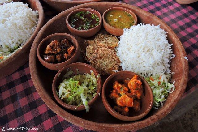 गोवा की शाकाहारी थाली