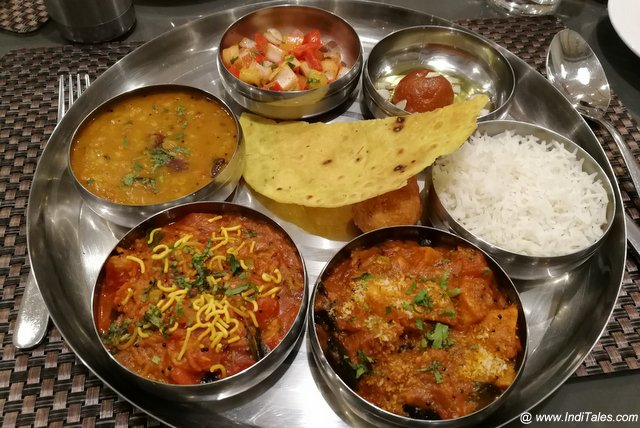 Gujarati Kathiawadi Thali Most Vegetarian Indian Thali