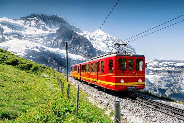 Train to Jungfrau Mountain - Switzerland
