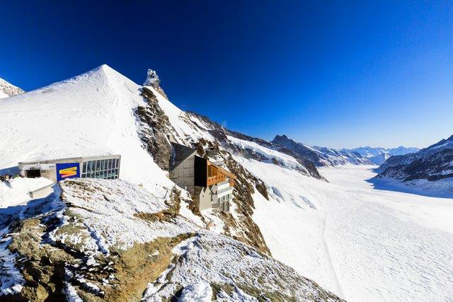 Jungfraujoch Observation Station & Aletsch Glacier