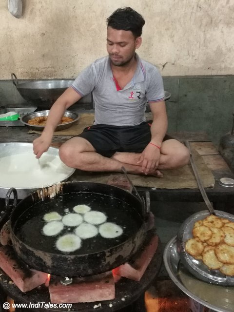 Making of Malpua sweet dish