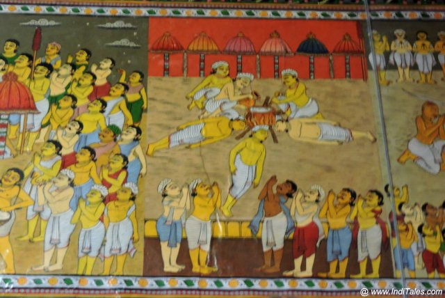 Depiction of Shisha Ranni Festival on the walls