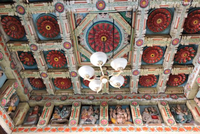 Beautiful Wood Carved Panel and Ceiling of Kashi Purush Temple