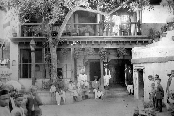 Old photo of Datta Temple in Ambabai Mandir complex
