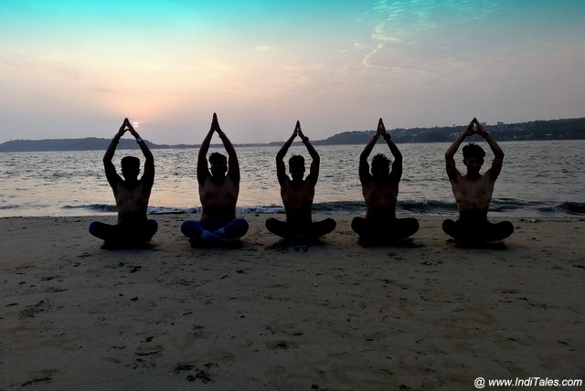 Yoga Practice on the beach? Travel India