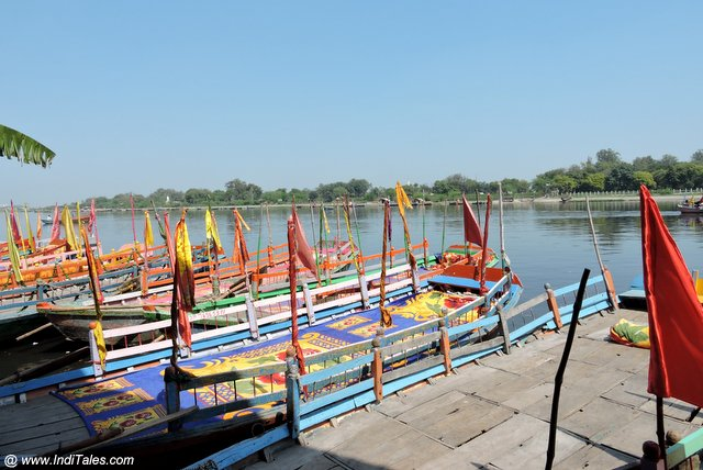 Colorful Boats on Yamuna in Mathura