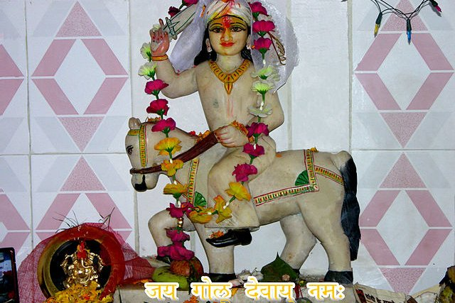 Golu Devta on his horse