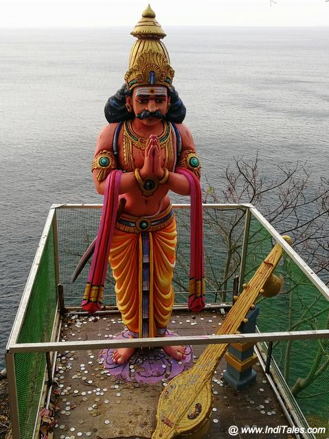 Ravana with his Veena on Swami Rock - Places to visit in Trincomalee