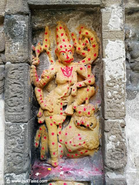 Durga sculpture at Airavateshwara Temple in Kanchipuram
