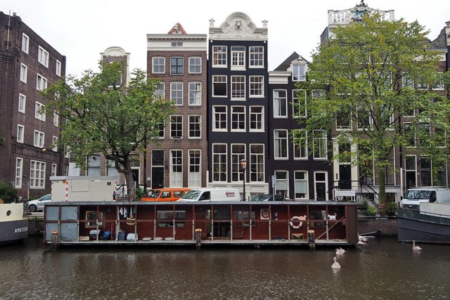 Amsterdam Poezenboot floating cat shelter on the canal