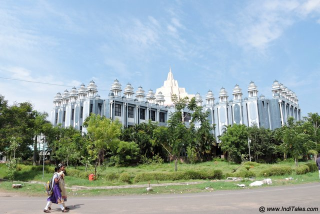International Library made in form of Sri Chakra - places to visit in Kanchipuram