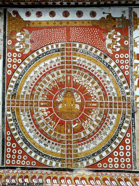 Jain Mandala on the walls of Trilokyanatha Jain Temple in Kanchi