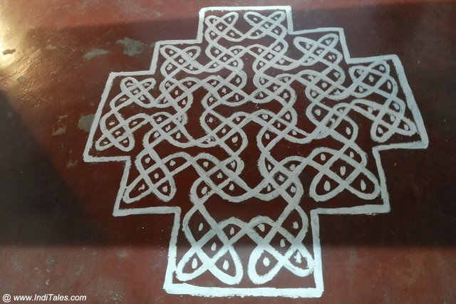 Kolam designs at Kanchi Kudil, Kanchipuram