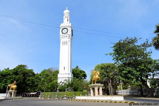 The clock tower in the city of Jaffna