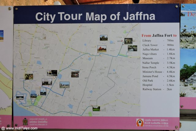 Jaffna Tourist Map