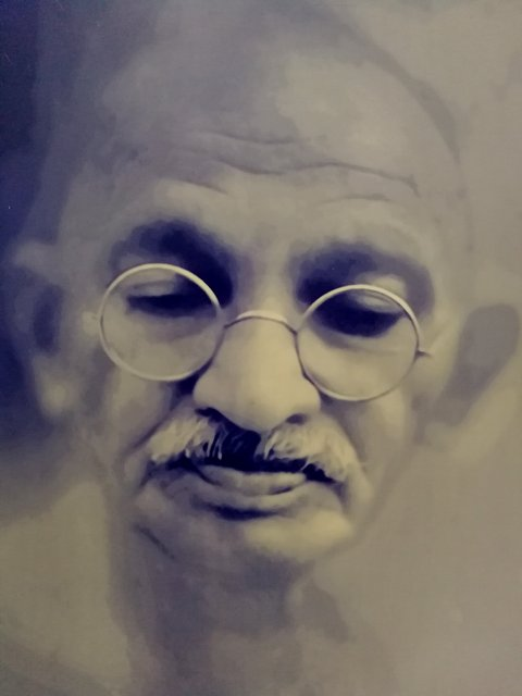 Close up of Mahatma Gandhiji